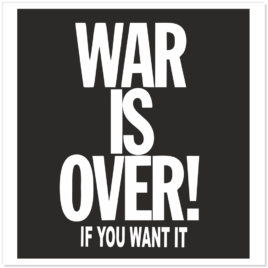War Is Over Stickers