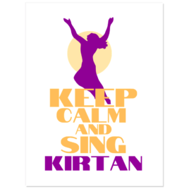 """Keep Calm and Sing Kirtan Stickers 3""""x4"""" pack of 5"""