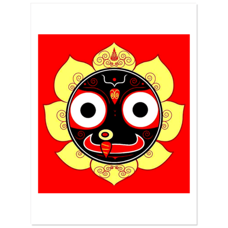 """Jagannath Atma Stickers 3"""" wide pack of 5"""