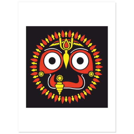 """Jagannath Stickers 3"""" wide pack of 5"""