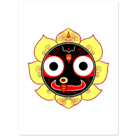 """Jagannath Atma2 Stickers 3"""" wide pack of 5"""