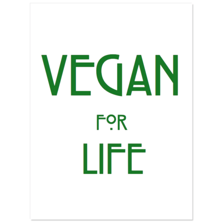 """Vegan for Life Stickers 3"""" wide pack of 5"""