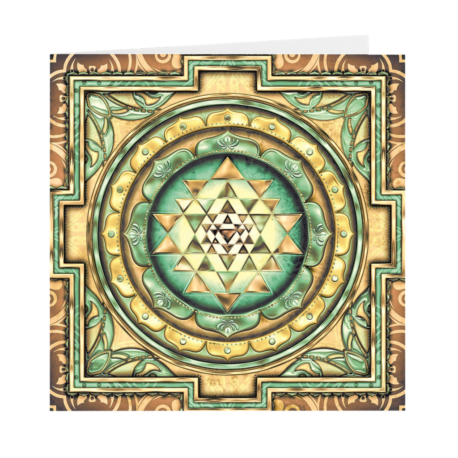 "Sri Sri Yantra Folded Cards 5""x5"" pack of 5"