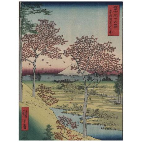 Tōto Meguro Yuhhigaoka – Hiroshige Ga. Poster