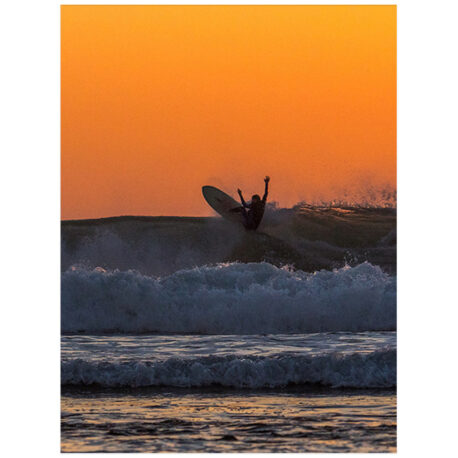 Surf Orange Poster