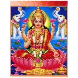 "Goddess Laksmi Poster 12""x18"" 18""x24"""