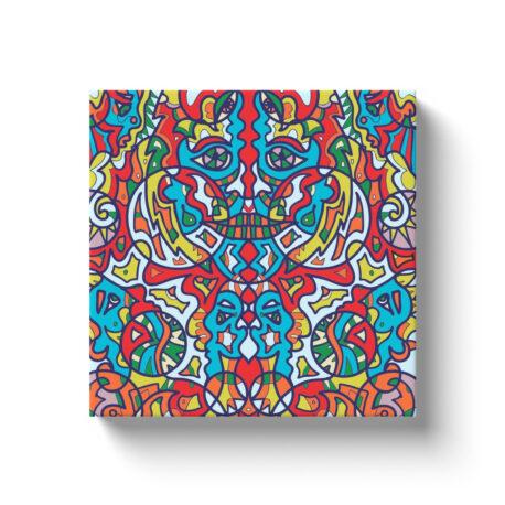 Maze-Face Canvas Wrap