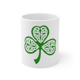 CELTIC SHAMROCK Ceramic Mug 11oz